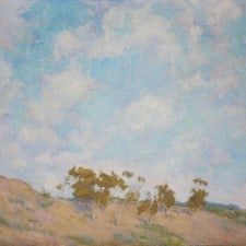 """American Legacy Fine Arts presents """"Bara's Hill, Portuguese Bend"""" a painting by Amy Sidrane"""