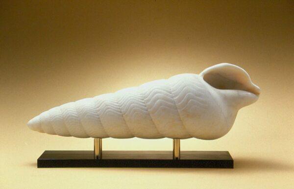 "American Legacy Fine Arts presents ""Auger Shell"" a sculpture by Béla Bácsi."