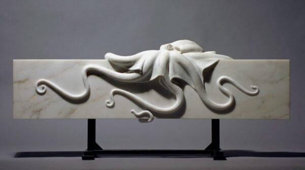 "American Legacy Fine Arts presents ""Octopus"" a sculpture by Béla Bácsi."