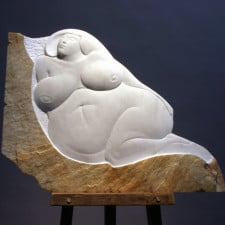 """American Legacy Fine Arts presents """"Pearfectly Obvious"""" a sculpture by Béla Bácsi."""