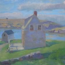 "American Legacy Fine Arts presents ""Early American Beginnings - Monhegan Island"" a painting by Daniel W. Pinkham."