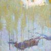 "American Legacy Fine Arts presents ""Snow Poem, 4"" a painting by Daniel W. Pinkham."