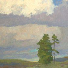 """American Legacy Fine Arts presents """"Clearing Storm; Mt. Shasta"""" a painting by Daniel W. Pinkham."""
