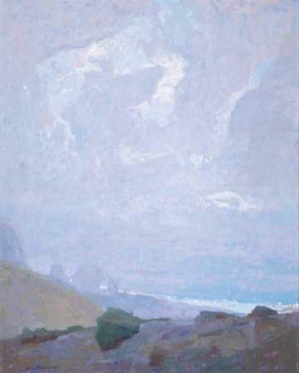 "American Legacy Fine Arts presents ""Light Beyond the Veil"" a painting by Daniel W. Pinkham."