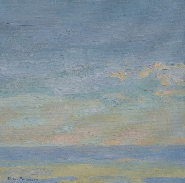 """American Legacy Fine Arts presents """"Serene Morning"""" a painting by Daniel W. Pinkham."""