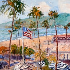 """American Legacy Fine Arts presents """"From the Balcony"""" a painting by George Gallo."""