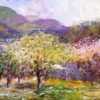 """American Legacy Fine Arts presents """"Spring in Malibu"""" a painting by George Gallo."""