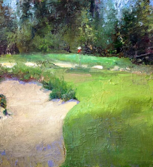 """American Legacy Fine Arts presents """"A quiet Morning"""" a painting by David C. Gallup."""