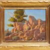 """American Legacy Fine Arts presents """"Rock Catching Rays"""" a painting by Jean LeGassick."""