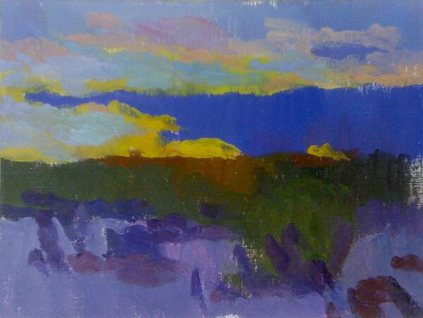 """American Legacy Fine Arts presents """"The Sound of a Desert Sunset"""" a painting by Eric Merrell."""