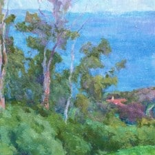 """American Legacy Fine Arts presents """"St. Francis, Palos Verdes"""" a painting by Amy Sidrane."""