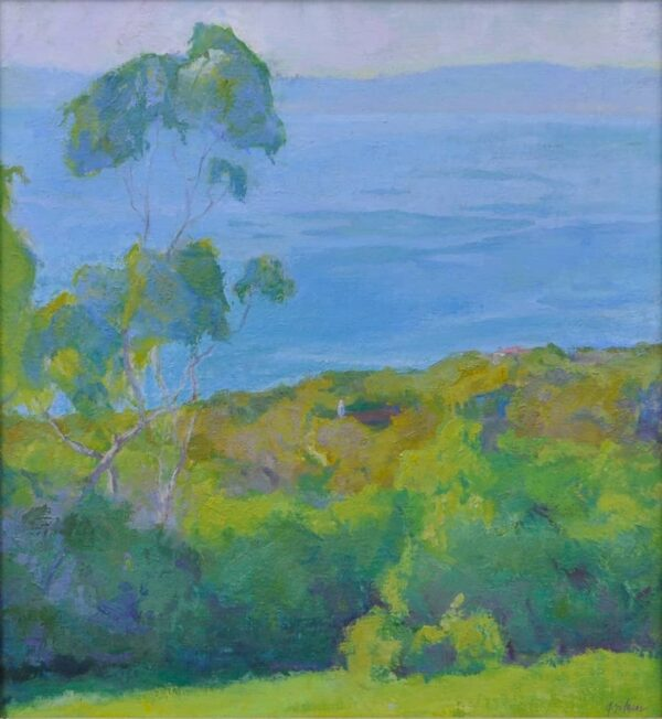 """American Legacy Fine Arts presents """"St. Francis, Afternoon Light"""" a painting by Amy Sidrane."""