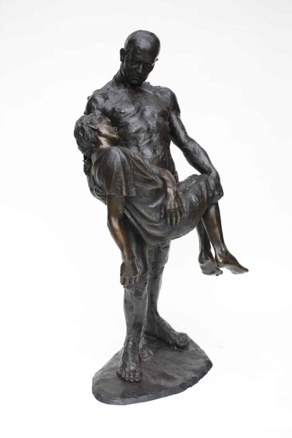 """American Legacy Fine Arts presents """"The Illustrated Man; Fr. Electrico"""" a sculpture by Christopher Slatoff."""