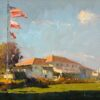 """American Legacy Fine Arts presents """"The Clubhouse"""" a painting by Calvin Liang."""