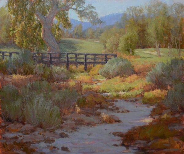 """American Legacy Fine Arts presents """"Barranco Arenoso"""" a painting by Jean LeGassick."""