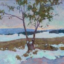 "American Legacy Fine Arts presents ""Apple Tree"" a painting by Daniel W. Pinkham."
