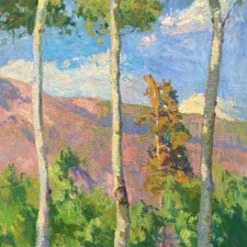 """American Legacy Fine Arts presents """"Fall River Road"""" a painting by Daniel W. Pinkham."""