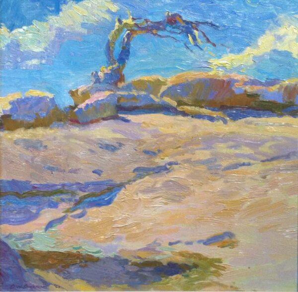 "American Legacy Fine Arts presents ""Jeffrey Pine; Yosemite"" a painting by Daniel W. Pinkham."