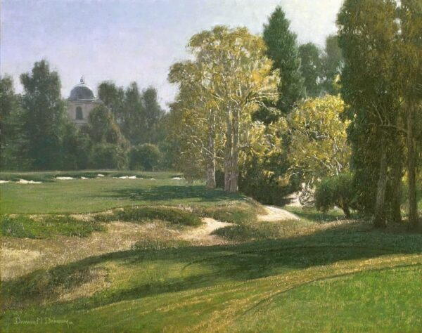 """American Legacy Fine Arts presents """"Afternoon on the 17th Tee"""" a painting by Dennis Doheny."""