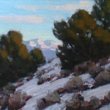 """American Legacy Fine Arts presents """"Catching Last Light -Study"""" a paintingby Jean LeGassick."""