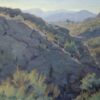 """American Legacy Fine Arts presents """"Cliffs and Sage"""" a painting by Jean LeGassick."""
