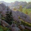 """American Legacy Fine Arts presents """"Granite Chief Wilderness Study"""" a painting by Jean LeGassick."""