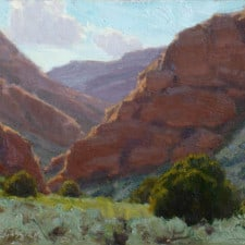 """American Legacy Fine Arts presents """"Side Canyon"""" a painting by Jean LeGassick."""