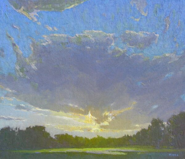 """American Legacy Fine Arts presents """"Evening Light"""" a painting by Jennifer Moses."""