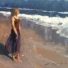 """American Legacy Fine Arts presents """"Afternoon Walk on the Beach"""" a painting by Jeremy Lipking."""