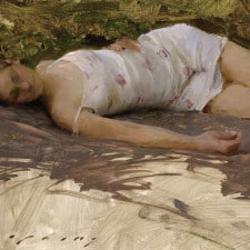 """American Legacy Fine Arts presents """"Delphine"""" a painting by Jeremy Lipking."""