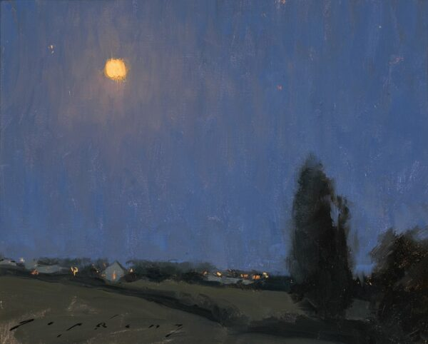 """American Legacy Fine Arts presents """"Moonlight Over the Loire Valley"""" a painting by Jeremy Lipking."""