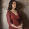 """American Legacy Fine Arts presents """"Severine, Girl in the Red Dress"""" a painting by Jeremy Lipking."""