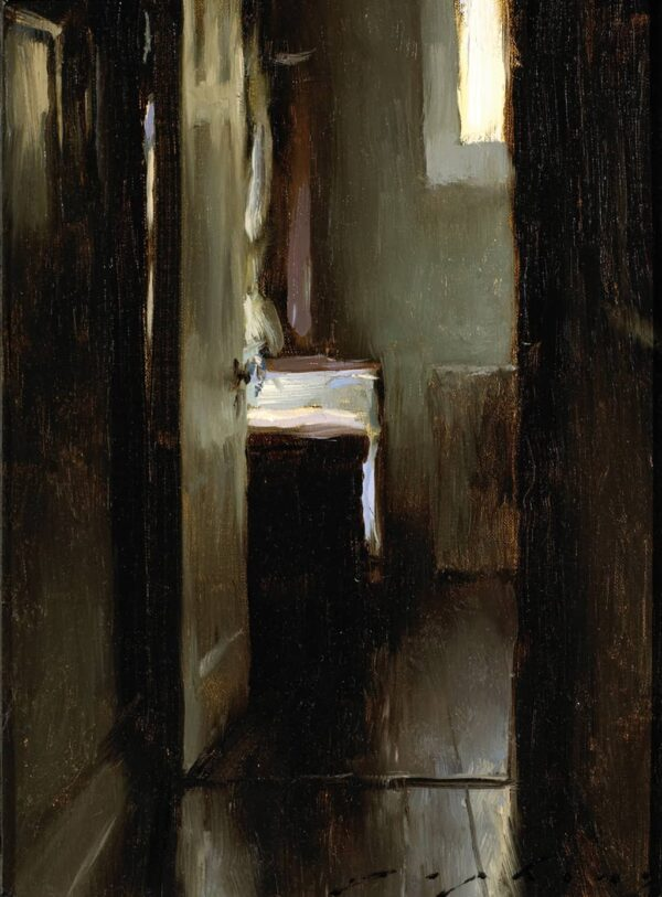 """American Legacy Fine Arts presents """"The Artists's Studio"""" a painting by Jeremy Lipking."""