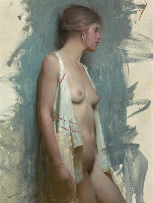 """American Legacy Fine Arts presents """"Unwrapped"""" painting by Jeremy Lipking."""