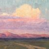 """American Legacy Fine Arts presents """"Long Valley Sunset; Long Valley Caldera, Eastern Sierra, CA"""" a painting by Jeremy Lipking."""