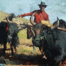 "American Legacy Fine Arts presents ""Yakboy"" a painting by Jove Wang."