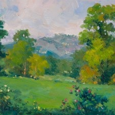 """American Legacy Fine Arts presents """"The Sunday Afternoon"""" a painting by Junn Roca."""