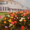"""American Legacy Fine Arts presents """"Red, White, with Greens"""" a painting by Jean LeGassick."""