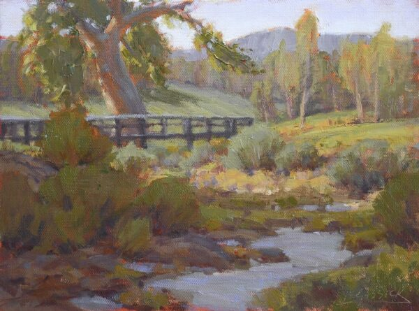 """American Legacy Fine Arts presents """"Study for Barranco Arenoso"""" a painting by Jean LeGassick."""
