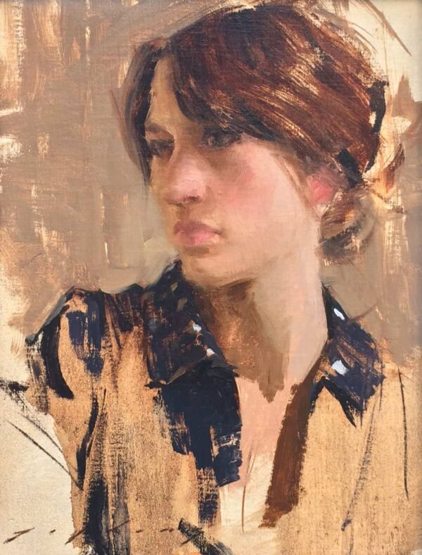 """American Legacy Fine Arts presents """"Fanny"""" a painting by Jeremy Lipking."""