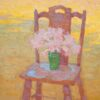 """American Legacy Fine Arts presents """"Amaryllis Belladonna in a Green Vase"""" a painting by Eric Merrell."""