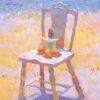 """American Legacy Fine Arts presents """"Potted Cactus and Oranges ona Chair"""" a painting by Eric Merrell."""