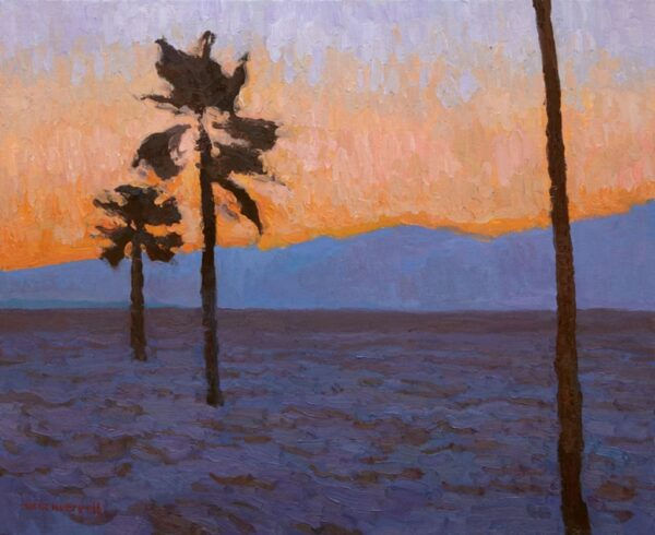 """American Legacy Fine Arts presents """"The Arc of Evening"""" a painting by Eric Merrell."""