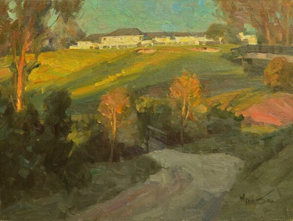 """American Legacy Fine Arts presents """"The Club's Morning"""" a painting by Mian Situ."""