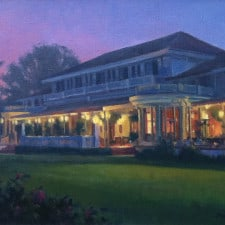 """American Legacy Fine Arts presents """"After Hours at the Clubhouse"""" a painting by Michael Obermeyer."""
