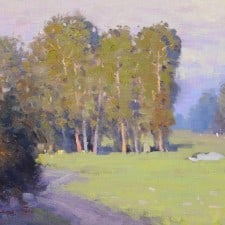 """American Legacy Fine Arts presents """"Country Club View"""" a painting by Michael Situ."""