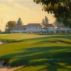 """American Legacy Fine Arts presents """"Approach to the Clubhouse"""" a painting by Michael Obermeyer."""
