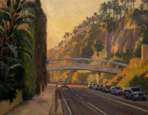 """American Legacy Fine Arts presents """"Along the Palisades"""" a painting by Michael Obermeyer."""