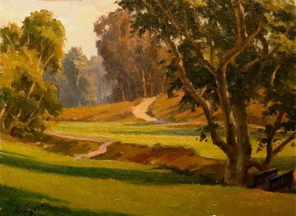 """American Legacy Fine Arts presents """"Barrancas and Bunkers"""" a painting by Michael Obermeyer."""