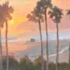"""American Legacy Fine Arts presents """"California Sunset"""" a painting by Michael Obermeyer."""